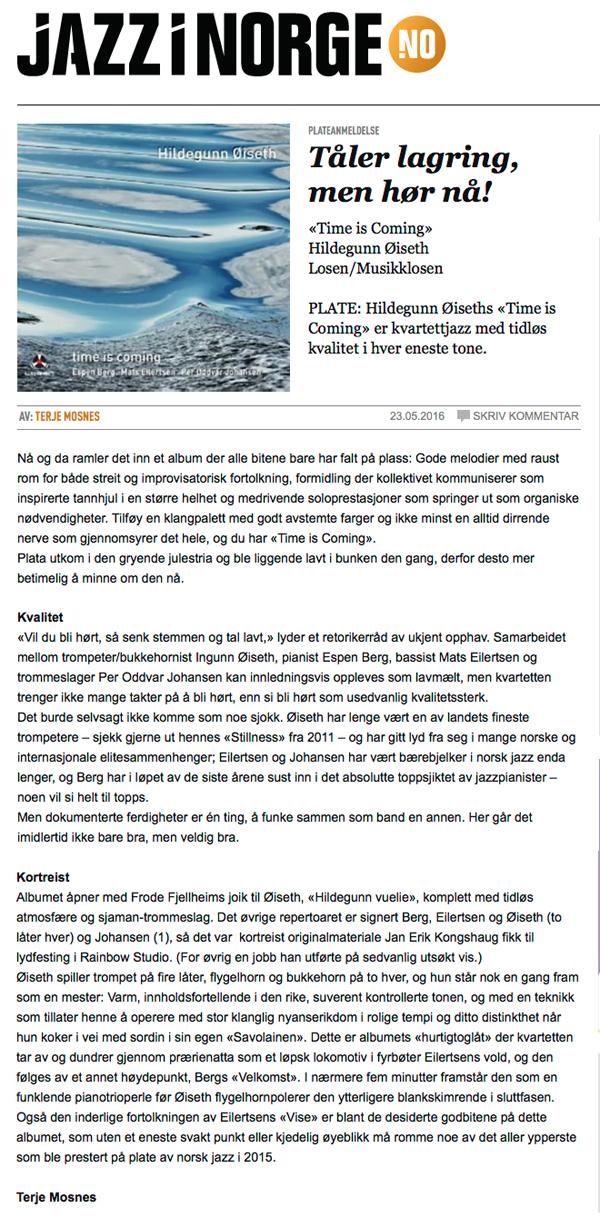 Jazz i Norge Stillness 600